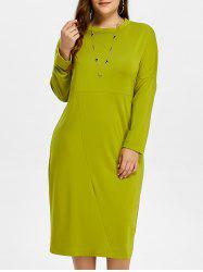 Plus Size Midi Shift Dress