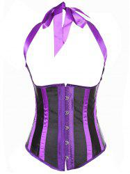 Two Tone Underbust Corsets - PURPLE