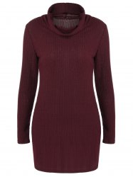 Ribbed Pullover Turtleneck Sweater