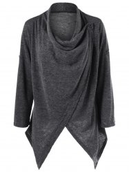 Asymmetrical Single Button Cardigan