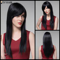 Long Side Bang Siv Hair Straight Real Natural Hair Wig -