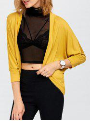 Open Front Dolman Sleeve Knit Short Cardigan