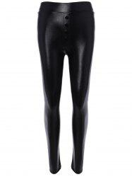 High Waisted PU leather Leggings