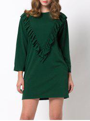 Mini Casual Ruffle Tunic Dress