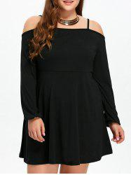 Mini Plus Size Spaghetti Strap Skater Dress