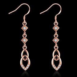 Rhinestone Geometric Teardrop Earrings