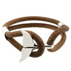 Artificial Leather Rope Fishtail Bracelet - KHAKI