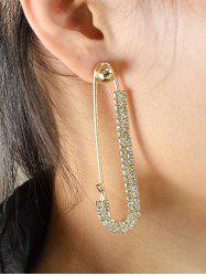 ONE PIECE Rhinestone Pin Earring -