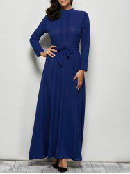 Maxi Dress with Bowknot Lace Up -