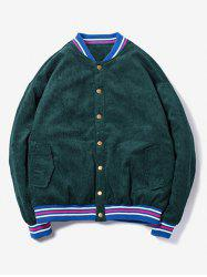 Button Up 95 Pattern Corduroy Jacket -