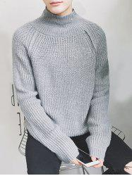 Raglan Sleeve Funnel Neck Chunky Sweater