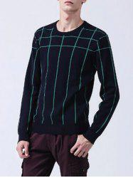 Long Sleeves Striped Crew Neck Sweater -