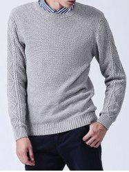 Crew Neck Knitted Texture Sweater