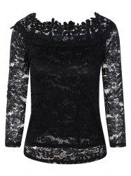 Slimming Floral Lace Blouse