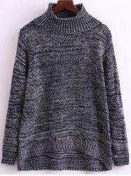 Funnel Neck Heathered Knitwear -