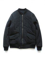 Stand Collar Zip Up Quilted Bomber Jacket