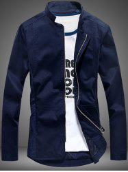 Stand Collar Pocket Zip Up Jacket