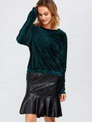 Velvet Drop Shoulder Sweatshirt