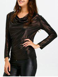 Cowl Neck Fitted Tee -