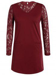 Lace Panel Slimming Dress -
