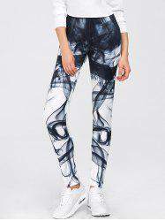 Chinese Painting Print Gym Sports Leggings