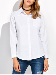 Stand Collar Button Up Shirt -