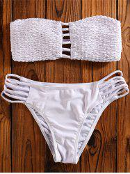 Cut Out Bandeau Bikini Swimwear