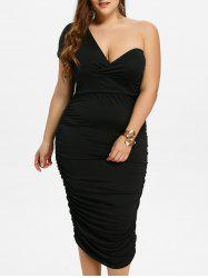 One Shoulder Bodycon Prom Plus Size Bandage Dress