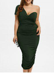 One Shoulder Bodycon Prom Plus Size Cocktail Bandage Dress