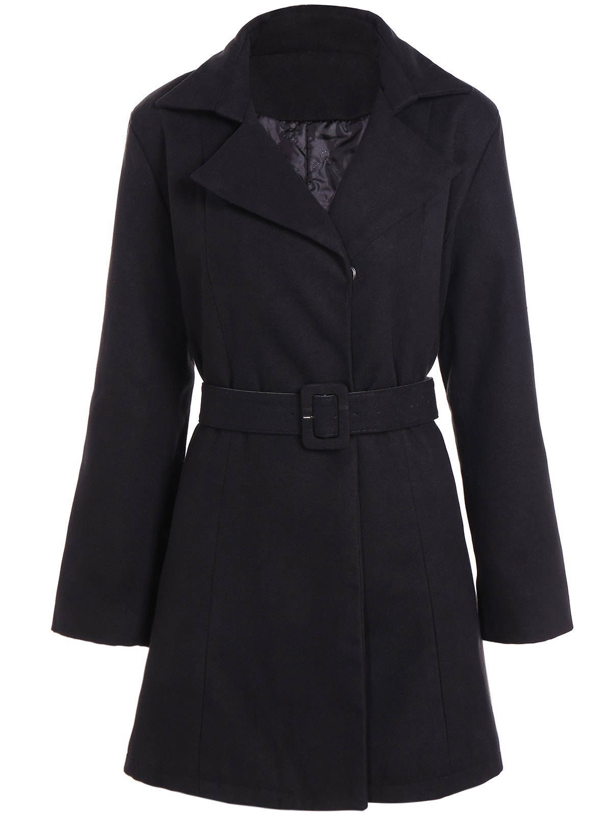 Buy Belted Plus Size Overcoat