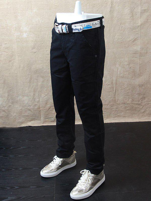 Latest Casual Straight Leg Zip Fly Pants
