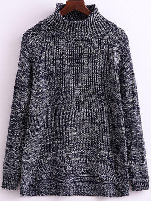 Buy Funnel Neck Heathered Knitwear