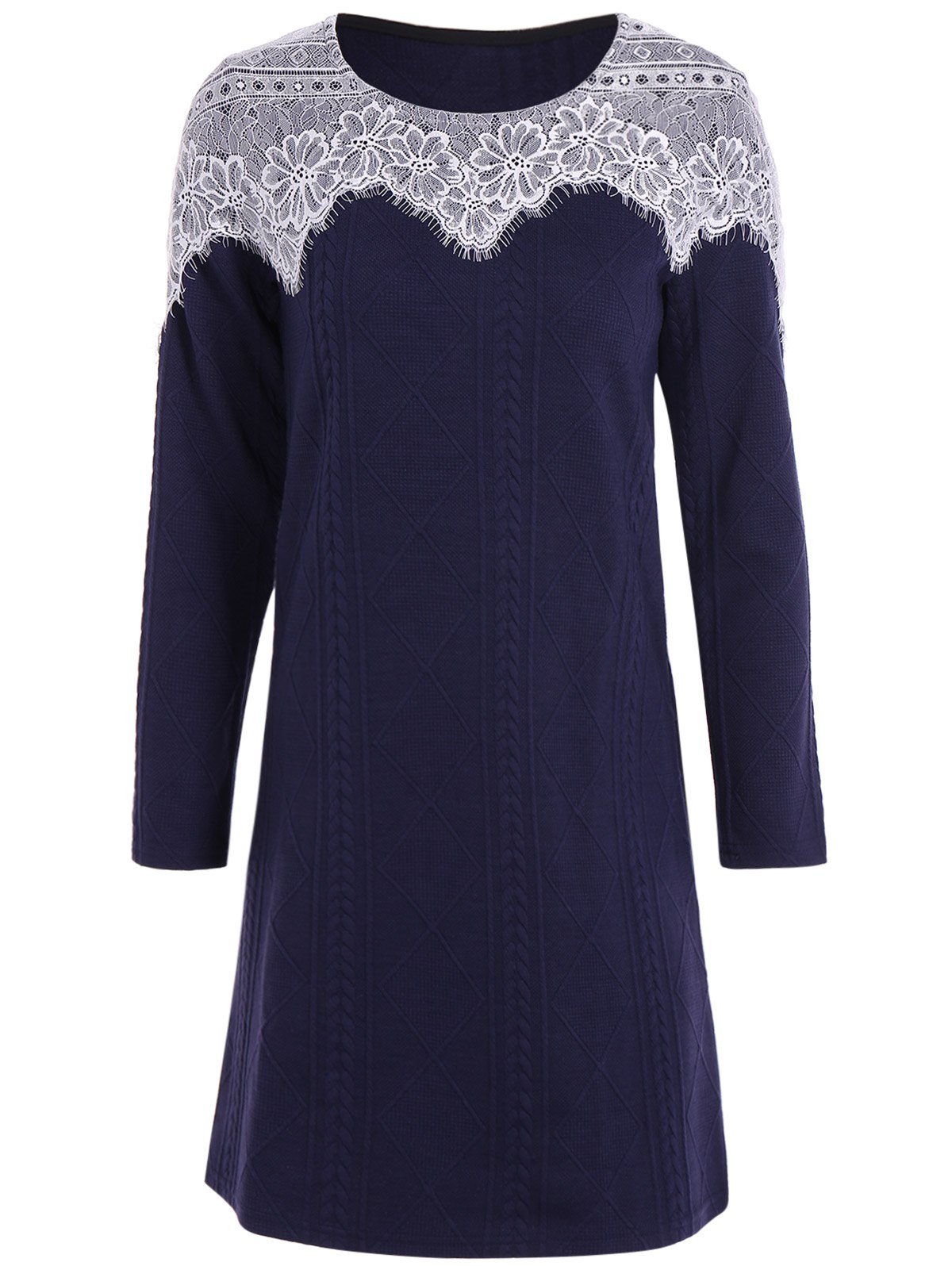 This jersey-knit party dress is effortless and elegant with the shimmer of understated sequins. The elastic waist creates a beautiful blouson drape accentuated by surplice detailing. A flirty slit finishes the look.