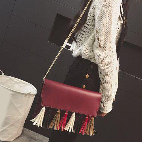 Chic Tassels Chains Crossbody Bag