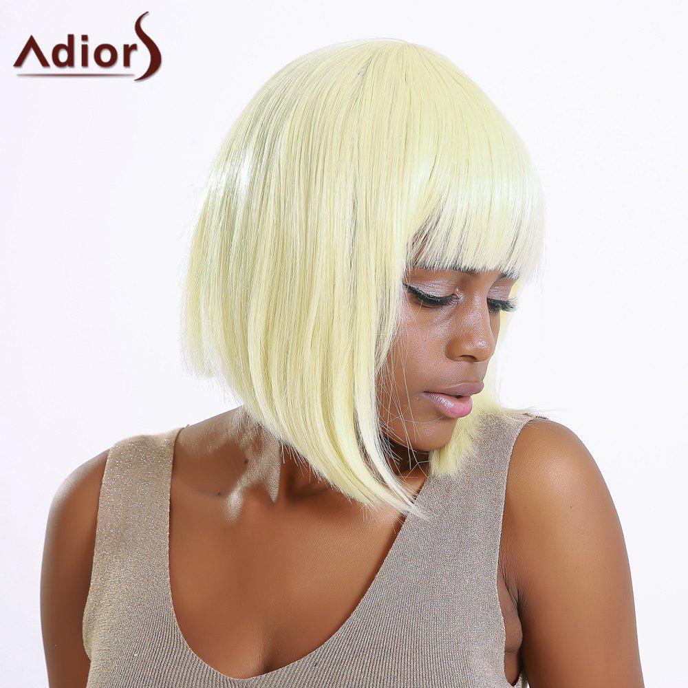 Discount Stylish Straight Synthetic Full Bang Bob Wig For Women