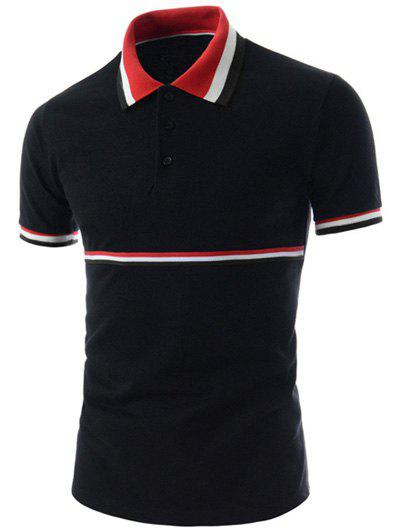 Stripe Trim Polo T-Shirt