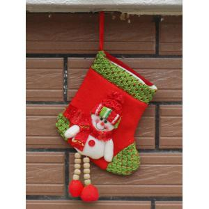 Merry Christmas Decoration Snowman Hanging Present Sock
