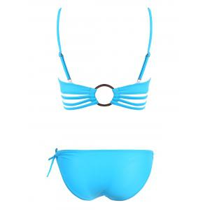 Padded Hollow Out Strappy Bikini -