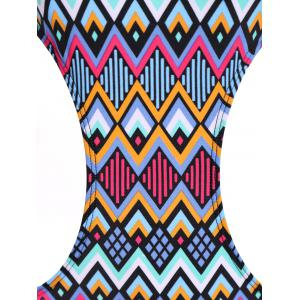 Halter Print One Piece Monokini Swimsuit -