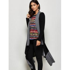 Asymmetrical Shawl Collar Cardigan -