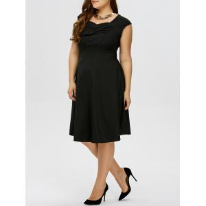 Plus Size Vintage Ruched Swing Dress