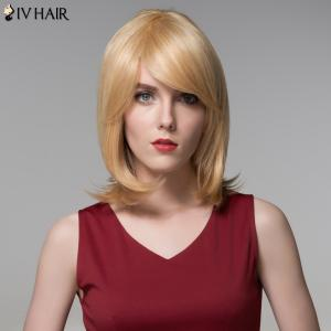 Siv Hair Faddish Medium Side Bang Straight Real Natural Hair Wig -