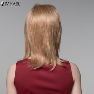 Siv Hair Medium Side Bang Straight Real Natural Hair Wig -