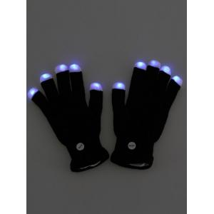 Colorful LED Fingertip Lighting Gloves Party Prop Supplies -