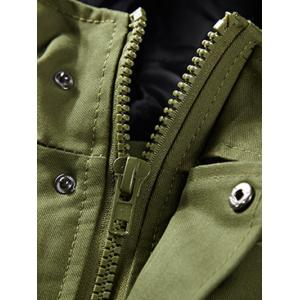 Hooded Pockets Design Jacket -