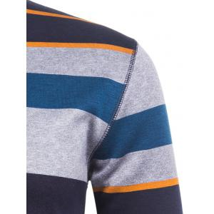 Crew Neck Color Block Striped Knitting Sweater -