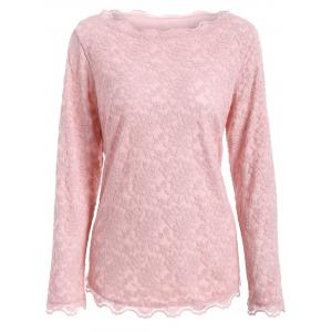 Plus Size Lace Blouse