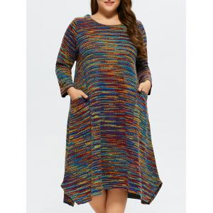 Plus Size Space Dyed Sweater Dress