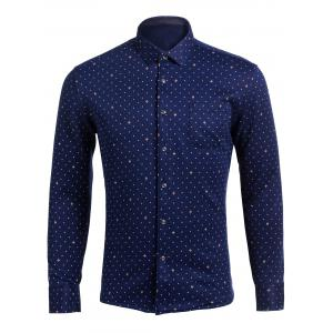 All Over Printed Long Sleeve Pocket Shirt