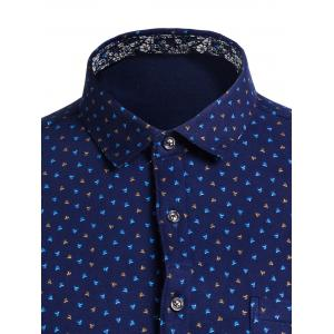 Turndown Collar All Over Printed Shirt -